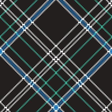 Black check plaid pixel seamless pattern flat design vector illustration.