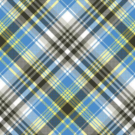 Blue light tartan plaid seamless pattern vector illustration. Illustration