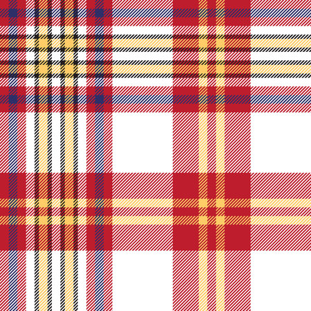 White red check seamless fabric texture. Vector illustration. Illustration