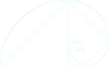 Golden ratio template blank with guides. Vector background.