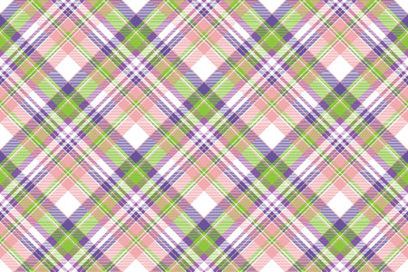 Beauty plaid fabric texture seamless pattern. Flat design. Vector illustration.
