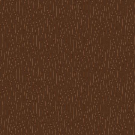 Hand drawn brown animal fur texture seamless pattern. Vector illustration. Stock Illustratie