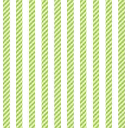 Green white striped fabric texture seamless pattern. Vector illustration.