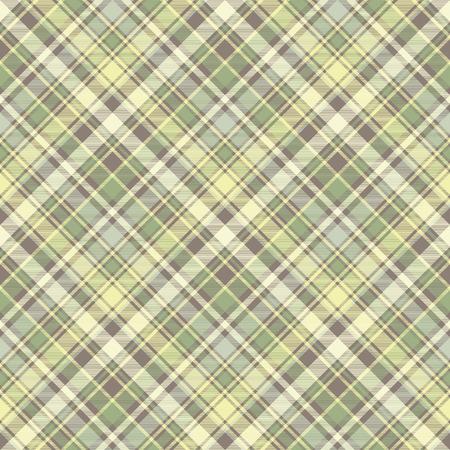Tartan plaid fabric texture seamless pattern. Vector illustration. Illustration
