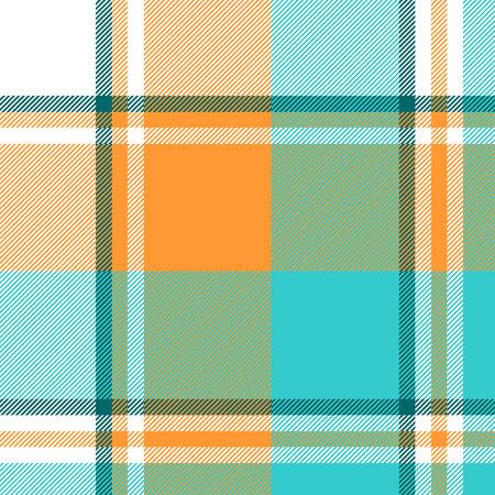Madras check plaid light seamless pattern. Vector illustration.