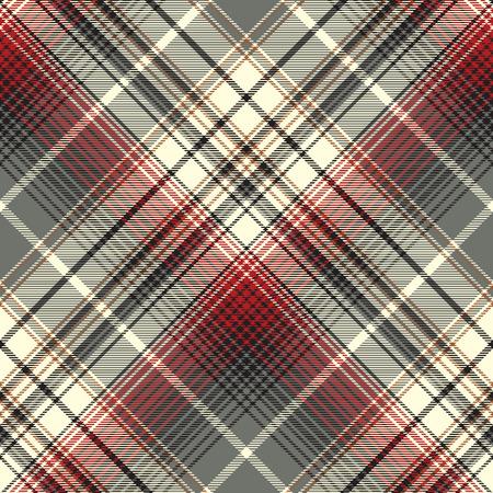 Abstract tartan seamless pattern. Vector illustration.