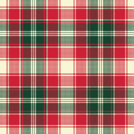 Pixel plaid texture fabric seamless pattern. Vector illustration.