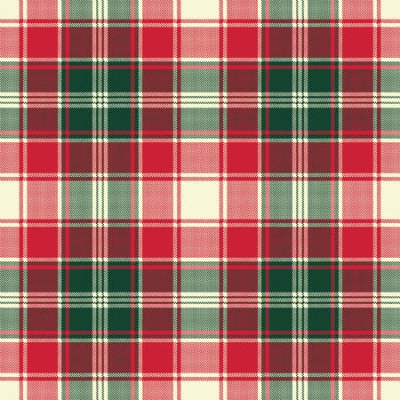 Pixel plaid texture fabric seamless pattern. Vector illustration.