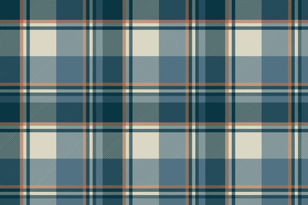 Gray blue check plaid seamless pattern. Vector illustration.