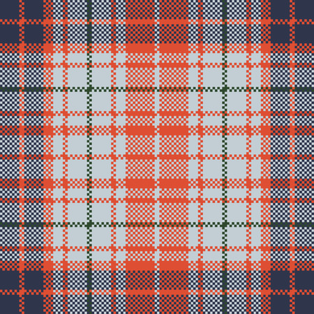 Pixel texture seamless check plaid. Vector illustration.