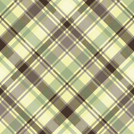 Plaid tartan seamless pattern check fabric texture. Vector illustration.