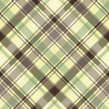 Plaid tartan seamless pattern check fabric texture. Vector illustration.