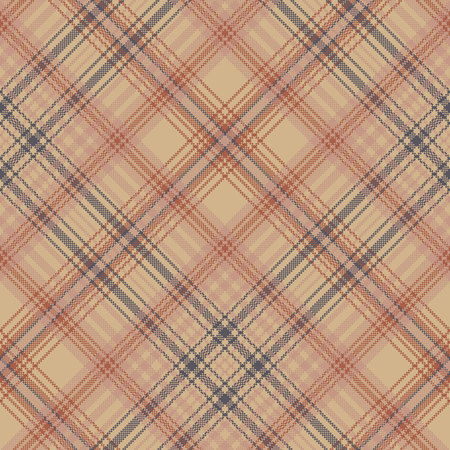 Old style check plaid pixel seamless pattern. Vector illustration.