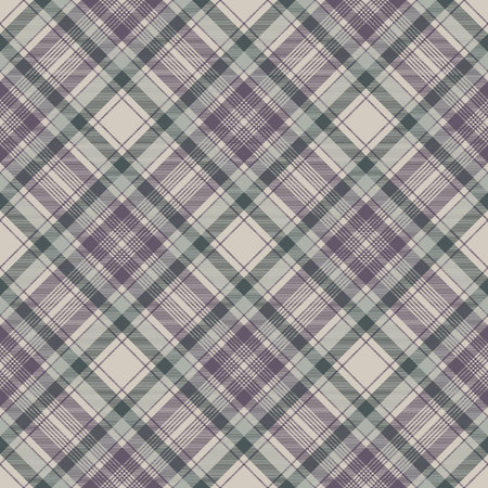 Napkin check fabric texture seamless pattern. Vector illustration. Vettoriali