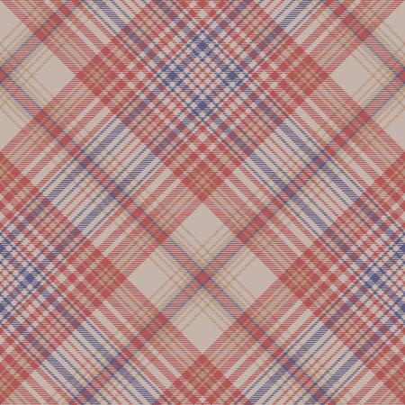 Vintage plaid fabric texture seamless pattern. Vector illustration. Illustration