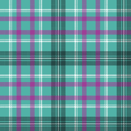 Blue tartan plaid seamless pattern. Vector illustration. Stock Illustratie
