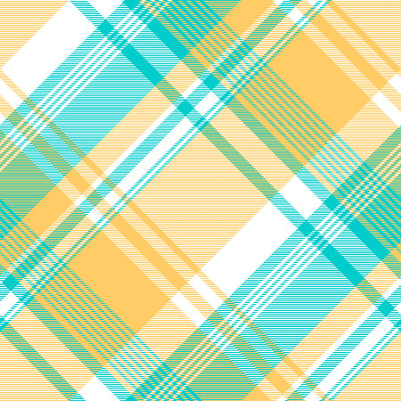 Blue yellow light color check tablecloth seamless pattern. Vector illustration. Illustration