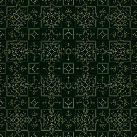 Retro seamless pattern classic background vintage vector texture. Иллюстрация