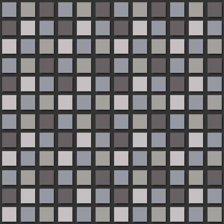 Modern mosaic background seamless pattern. Vector texture.