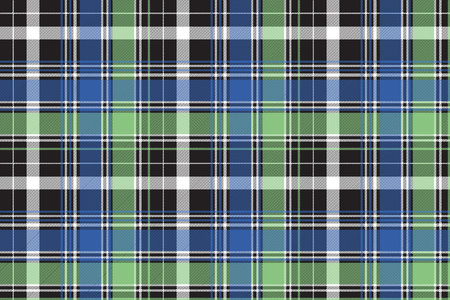 Fabric texture tartan abstract seamless pattern. Vector illustration.
