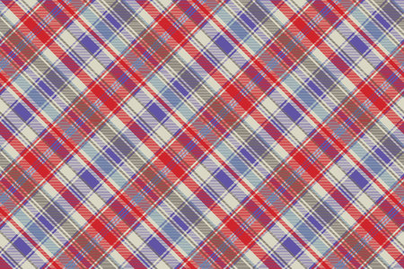 Tartan plaid pattern in red and blue. Print fabric texture seamless. Check vector background.
