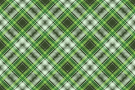 Tartan plaid pattern in green. Print fabric texture seamless. Check vector background.