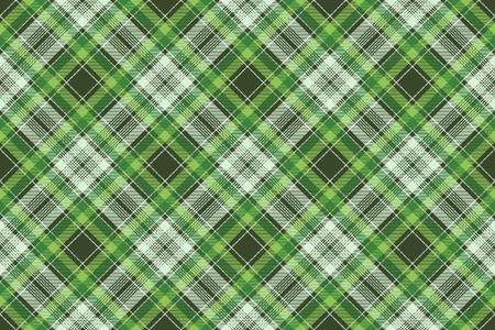 Tartan plaid pattern in green. Print fabric texture seamless. Check vector background. Standard-Bild - 113225114