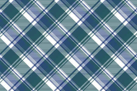 Tartan plaid pattern in blue and green. Print fabric texture seamless. Check vector background. Ilustrace
