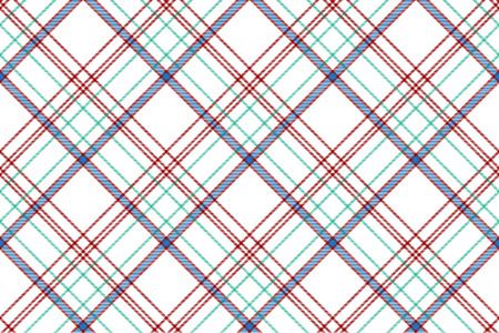 Tartan plaid pattern in white. Print fabric texture seamless. Check vector background.