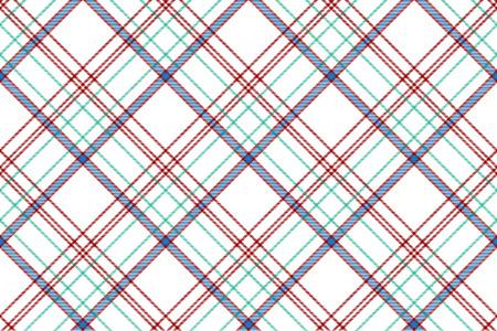 Tartan plaid pattern in white. Print fabric texture seamless. Check vector background. Standard-Bild - 113225158