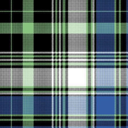 Pixel tartan seamless pattern. Vector illustration.