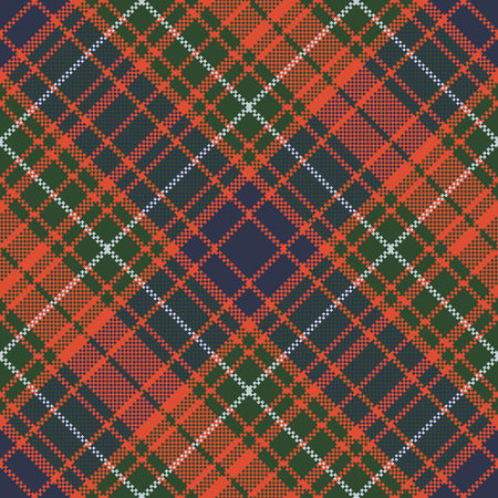 Pixel plaid tartan seamless background. Vector illustration.