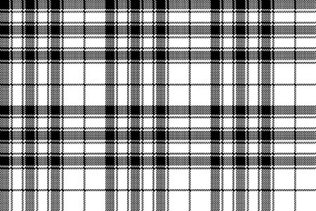 Pride of scotland tartan check plaid pixel seamless pattern. Vector illustration.