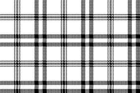 Simple black white check plaid seamless pattern. Vector illustration. Stock Illustratie