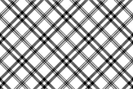 Modèle sans couture de plaid simple noir blanc check. Illustration vectorielle. Vecteurs