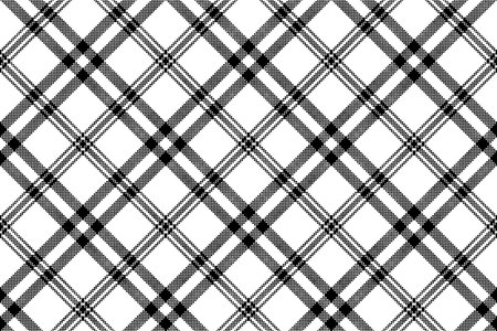 Simple black white check plaid seamless pattern. Vector illustration. 矢量图像