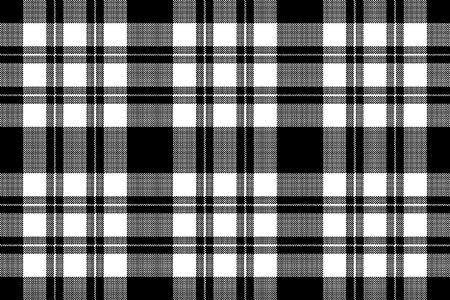 Pixel seamless fabric texture black white. Vector illustration. Illustration