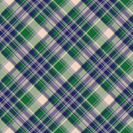 Tartan textile check texture seamless pattern. Vector illustration. Illustration
