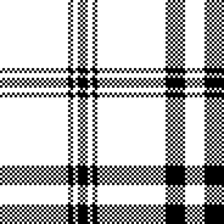 Simple black white check plaid seamless pattern. Vector illustration. Ilustração