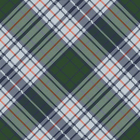 Check pixel plaid seamless texture. Vector illustration. Ilustrace
