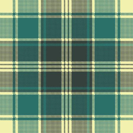 Modèle sans couture de pixel plaid tartan. Illustration vectorielle. Vecteurs