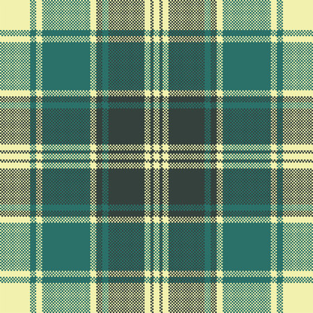 Tartan plaid pixel seamless pattern. Vector illustration.