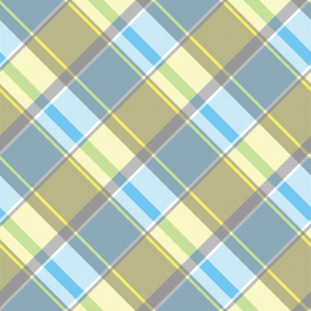 Lite color check plaid pixel seamless pattern. Vector illustration.