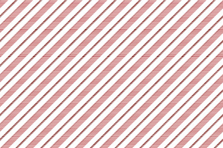 Red white striped texture seamless pattern. Vector illustration.