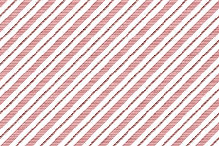 Reticolo senza giunte di struttura a strisce bianche rosse. Illustrazione vettoriale.