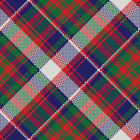 Plaid nahtloses Muster aus britischem Tartan-Karo. Vektorillustration. Vektorgrafik