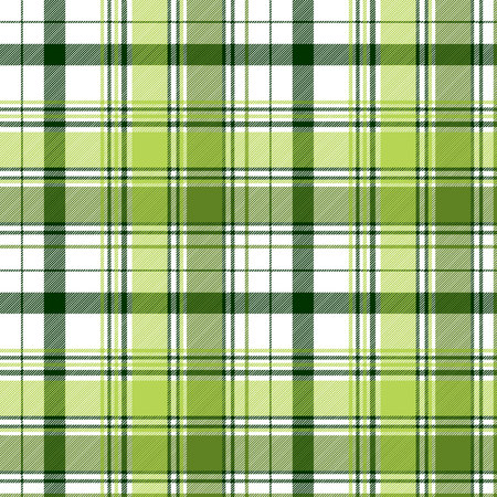 Green ireland abstract check textile seamless pattern. Vector illustration.