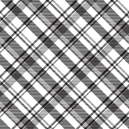 Black white abstract fabric texture seamless. Vector illustration. Illustration