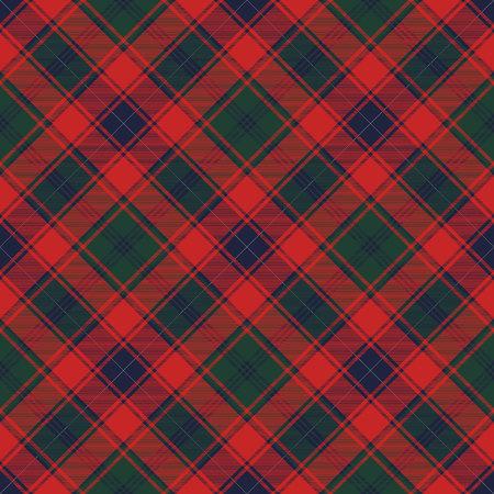 Tartan fabric texture seamless pattern. Vector illustration. Иллюстрация