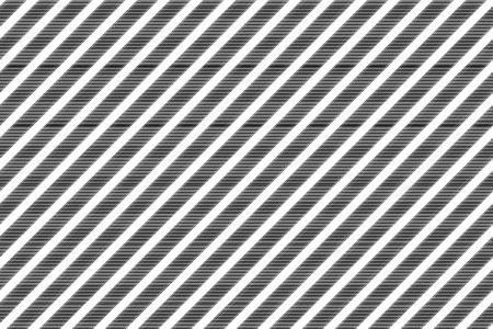 Black white striped classic fabric texture. Vector illustration.
